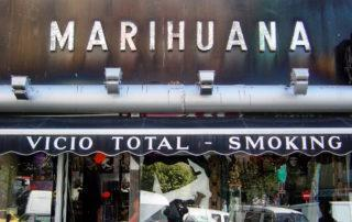 Marihuana shop in Madrid